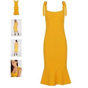 Likely Fishtail Dress, Golden